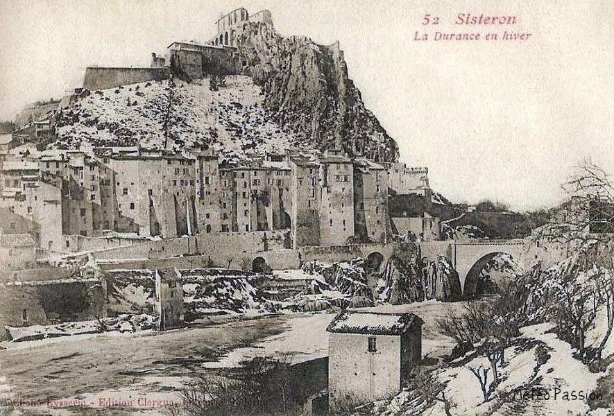citadelle de Sisteron pendant l'hiver 1907