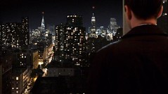 Pete Campbell apartment view of Manhattan