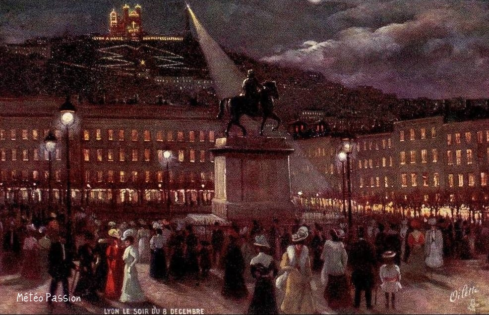 fête de la lumière à Lyon le 18 décembre 1907