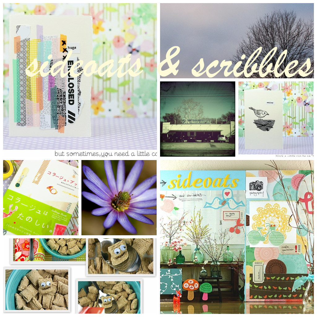 "blog feature ""sideoats & scribbles"""