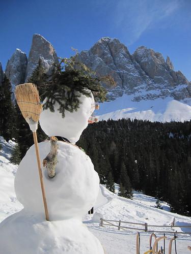 Vergänglichkeit der Geißlerspitzen - zumindest für den Schneemann