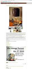 Apartment Therapy Press about Vintage Bazaar & STUDY