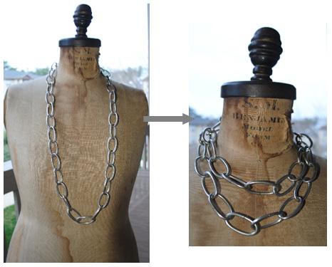 Silver large chain