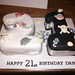 Pirate themed 21 b'day cake