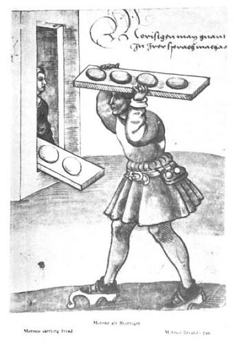 Morisco llevando pan al horno