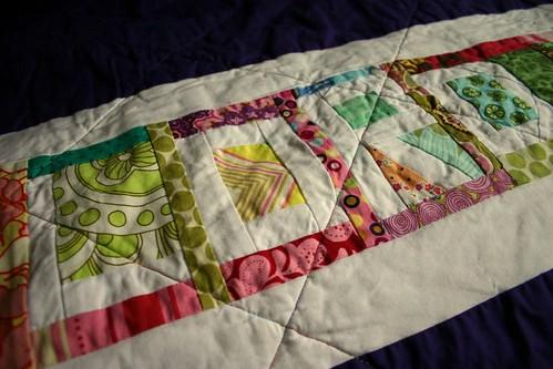 Carnival String Quilt - back detail