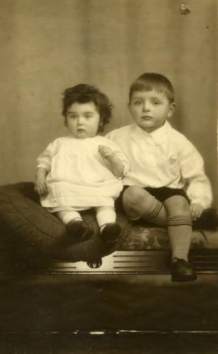 David Gibson and sister 1931
