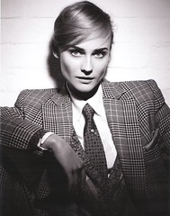 Diane Kruger (bof352000) Tags: woman fashion shirt costume femme tie class suit mode necktie elegance cravate strict chemise businesswoman