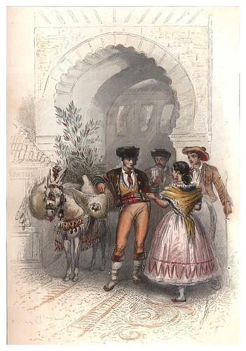 016-Granada-Aguador y bohemios-Voyage pittoresque en Espagne et en Portugal 1852- Emile Bégin