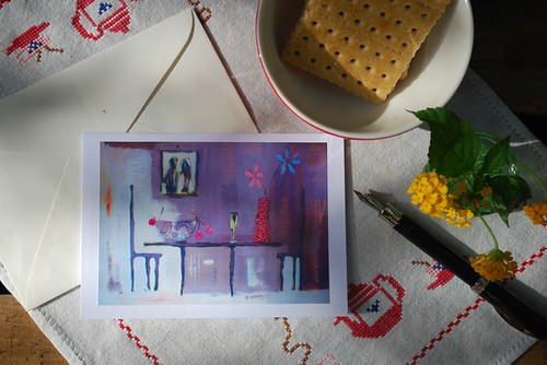 Good Mood Greeting Card - Dining table by good mood factory
