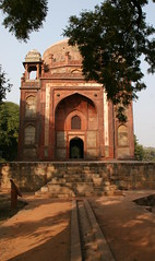 IMG_7874A (jaglazier) Tags: trees panorama india art archaeology grass stone gardens architecture stairs buildings tile landscapes sandstone doors crafts delhi muslim islam traditional royal arches balconies paths marble fountains domes shrines haji urbanism religions tombs charbagh platforms channels newdelhi islamic lawns 16thcentury inlay mogul medallions humayunstomb deciduoustrees tilework humayun basins mughal cupolas 16thcenturyad sixteenthcentury redsandstone barberstomb stoneworking hajibegum chhattri nationalcapitalterritory 1569ad