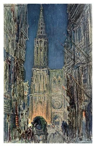 002-Catedral de Estrasburgo al anochecer-Alsace-Lorraine-1918- Edwards George Wharton