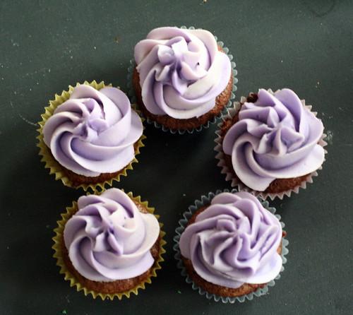 pentagon of lavendar cupcakes