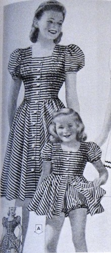 Mommy and Me 1940s Playsuits