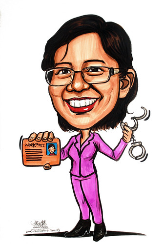 Caricature for Ministry of Manpower - 8