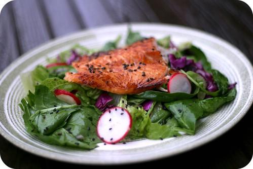 sesame chili glazed salmon