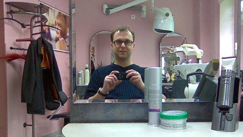 Beim Friseur in der Rothenburger 40