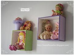 Nichos forrados com tecido (Maria Flor Ateliêr) Tags: baby babies bebê decoração mdf nichos