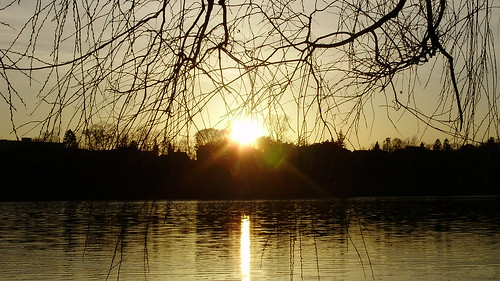 Sunset at Grenadier Pond, High Park, Toronto