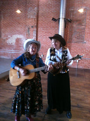 Liz Masterson and Cinnamon Sue at Streetmosphere auditions