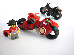 Red Fury Racing SuperBike (Pierre E Fieschi) Tags: bike race lego super racing motor minifig superbike superbikes speederbike fieschi speedbike pierree