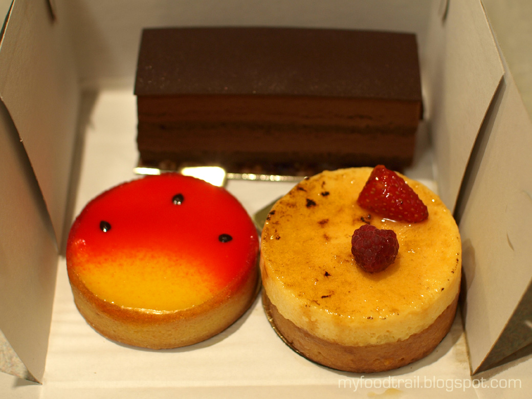 Adriano Zumbo - Passionfruit tart, chocolate cake, banana raspberry