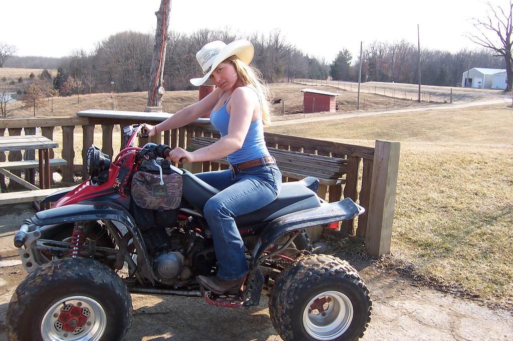 hot woman on quad