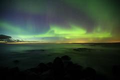 Northern lights in Iceland (olgeir) Tags: travel winter sky night photography dawn lights iceland nightlights photos aurora polar northern reykjanes northernlights auroraborealis deepspace borealis kold 極光 olgeir