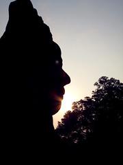 Backlight (wolfgangp_vienna) Tags: face statue backlight asia asien cambodia gesicht kambodscha head angkorwat figure siemreap angkorthom southgate kopf gegenlich thmabaykaek centralangkorthom