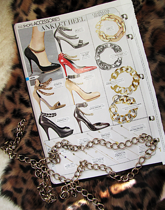 anklet heel -heels with chains -chainklet DIY