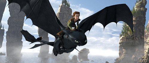 Hiccup and 'Toothless' fly in search of connection in 'How to Train Your Dragon'.