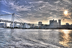 Odaiba Bridge, Tokyo (Sprengben [why not get a friend]) Tags: city wedding summer sky urban music art japan clouds skyscraper observation japanese tokyo bay harbor amazing nikon shinjuku asia waves ship artistic gorgeous awesome watch elevator style divine international stunning tokyotower metropolis roppongi odaiba yokohama charming foreign fabulous gundam hdr shushi rainbowbridge hiyoshi niijima engaging travelphotography shipparty d90 keiouniversity photomatix shibuja travellight d3s sprengben nationalgovernmentbuilding wwwflickrcomphotossprengben fatherofshushi springfrhlinghannovervinnhorstsprengbenkanalseevwcloudsskywolkenhimmel springfrhlinghannovervinnhorstsprengbenkanalseevwclouds