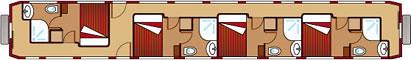 El Transcantabrico - plan of a carriage