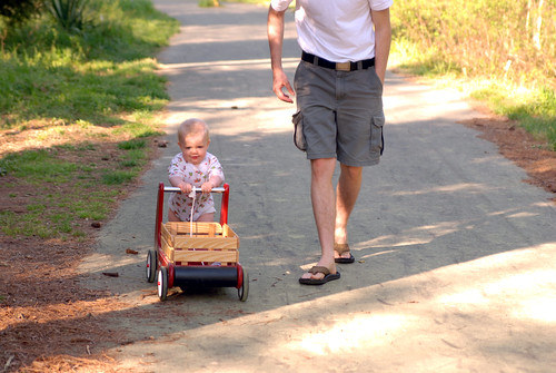 a walk with daddy