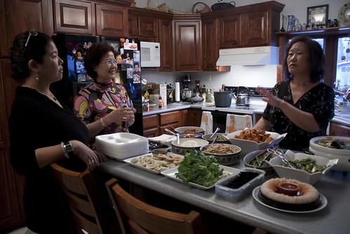 Women in Chae's kitchen