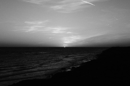 sunset at crystal cove (b/w)