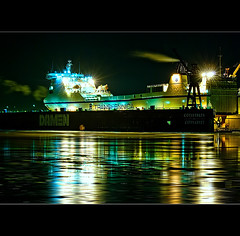 Damen (Faisal!) Tags: winter green ice water yard port silver gteborg boat is dock flickr ship mercury place
