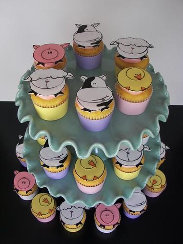 Raspberry Lemonade Spring Baby Cupcakes