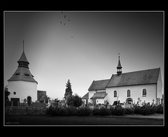 St.Archangel Michael Church (sysko20) Tags: bw church cemetery europe fuji cz