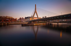 Zakim (chris lazzery) Tags: longexposure bridge sunset boston twilight dusk massachusetts 5d zakimbridge canonef1740mmf4l bw30nd
