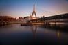 Zakim (chris lazzery) Tags: longexposure bridge sunset boston twilight dusk massachusetts 5d zakimbridge canonef1740mmf4l bw30nd