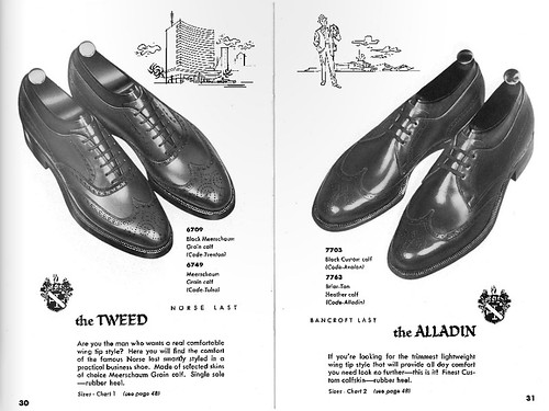 Allen Edmonds 1957 catalog - Tweed & Alladin