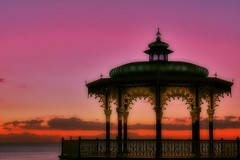 Brighton bandstand (M.a.r.t.y) Tags: pink sky catchycolors brighton oriental bandstand