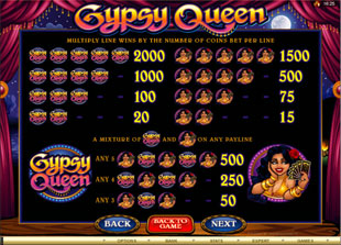 free Gypsy Queen slot mini symbol