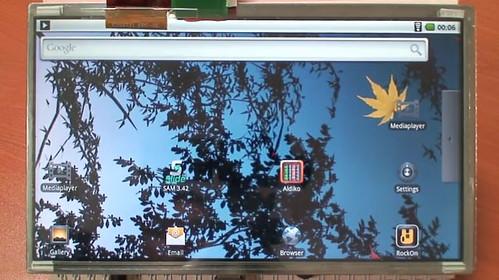 ODROID-T Tablet Websurfing Demo