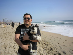 James & Truman at Huntington Dog Beach. (04/03/2010)