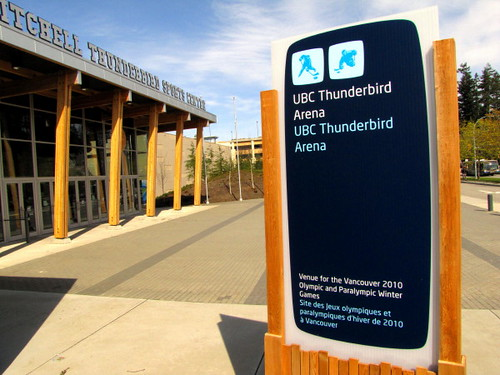 The UBC Thunderbird Arena, a 2010 Olympic Games legacy building