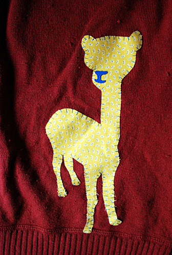 applique alpaca!