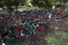 Lawnmover Graveyard (Christian Haugen) Tags: old graveyard rust mechanical motors collection motor discarded lawnmover