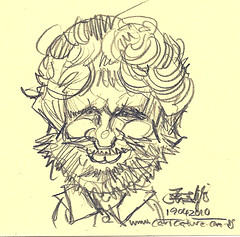 Quick sketch of caricaturist Jan Neggers